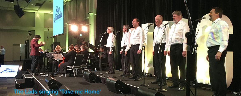 Lads Singing Take Me Home at National Gathering
